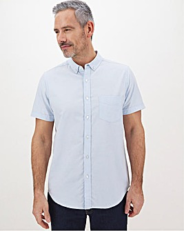 Sky Blue Short Sleeve Oxford Shirt Long