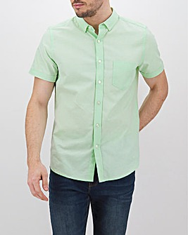 Mint Short Sleeve Oxford Shirt Long
