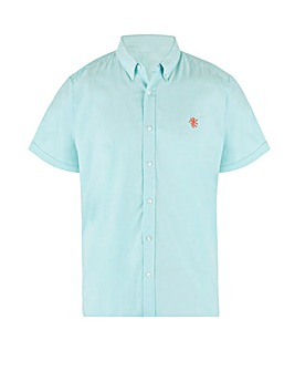 Aqua Short Sleeve Stretch Oxford Shirt Long