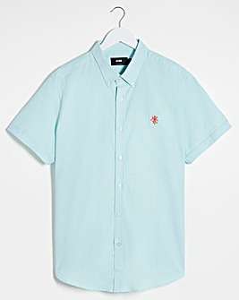 Aqua Short Sleeve Stretch Oxford Shirt