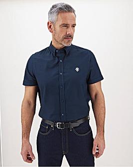 Navy Stretch Oxford Shirt