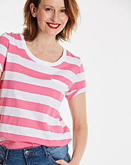 Block Stripe Cotton Slub T-shirt