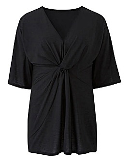 Black Kimono Knot Top