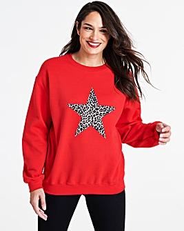 Leopard Star Sweatshirt