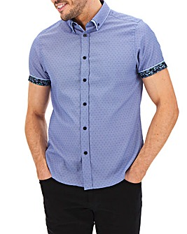 Blue Double Collar Shirt Long