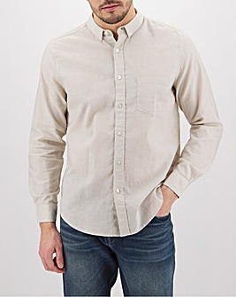 Stone Long Sleeve Linen Mix Shirt Long