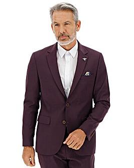 Wine Cliff Regular Fit Suit Jacket