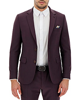 Wine Cliff Regular Fit Suit Jacket
