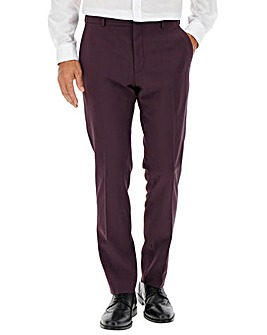 Wine Cliff Regular Fit Suit Trousers