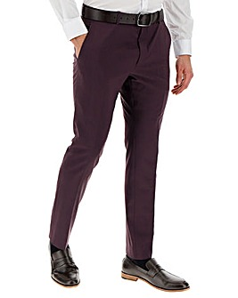 Wine Cliff Regular Fit Suit Trousers