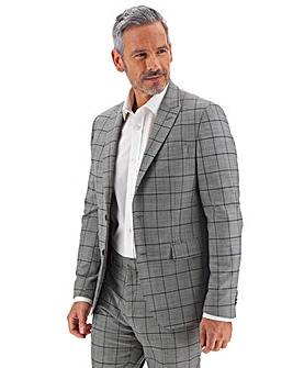Grey Colin Windowpane Check Suit Jacket
