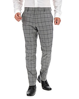 Grey Colin Windowpane Suit Trousers