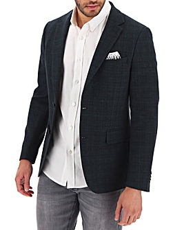 Navy Check Jason Regular Fit Blazer