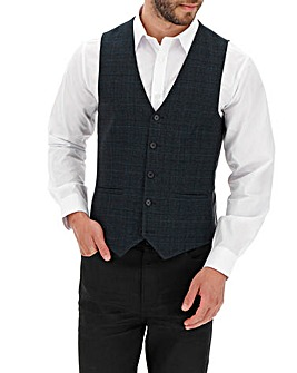 Navy Check Jason Regular Fit Waistcoat