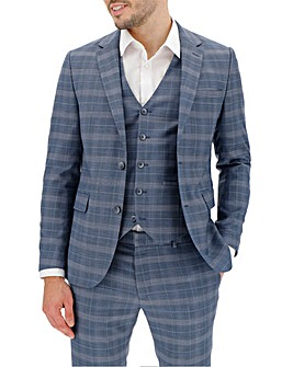 Blue Check Jim Regular Fit Suit Jacket