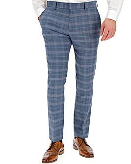Blue Check Jim Regular Fit Suit Trousers