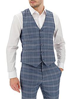 Blue Check Jim Waistcoat