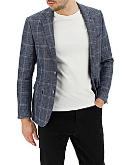 Blue Keith Textured Check Blazer