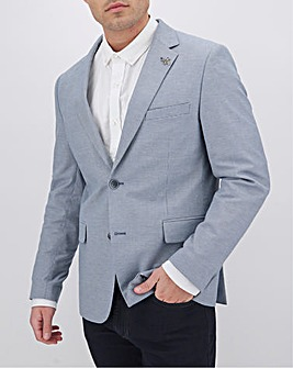 Blue Liam Puppytooth Regular Fit Blazer