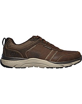 Skechers Sentinal-Lunder Leather Lace Up Trainer