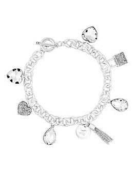 Lipsy Pave Crystal Charm Bracelet