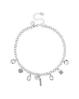 Lipsy Pave Crystal Charm Necklace