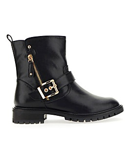 Tawny Buckle Biker Boot Extra Wide Fit