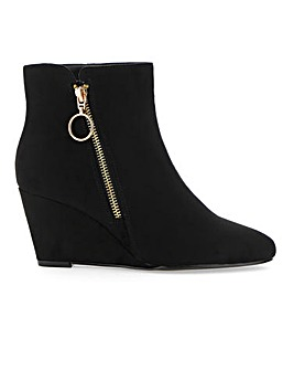 Zula Wedge Ankle Boot Wide Fit