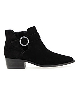 Odette Suede Buckle Detail Boots Extra Wide EEE Fit