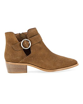 Odette Suede Buckle Detail Boots Wide E Fit