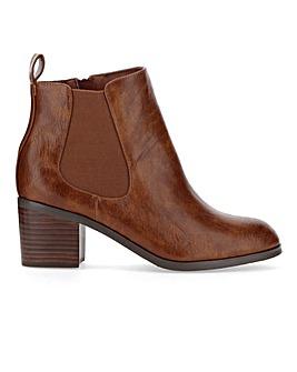 Tyra Block Heel Chelsea Boot Extra Wide
