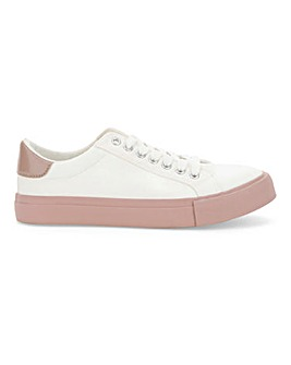 Allura Coloured Sole Lace Ups Wide Fit
