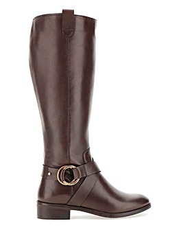 Maggie Leather Boot Wide Fit Curvy Plus