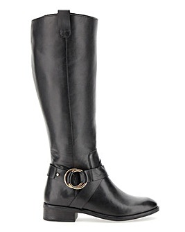 Maggie Leather Boots Wide E Fit Super Curvy Calf