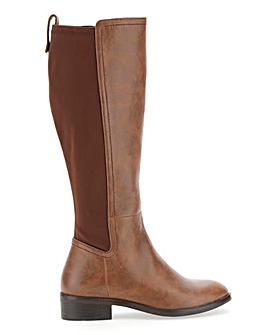 Dixie Stretch Boots Wide E Fit Super Curvy Calf