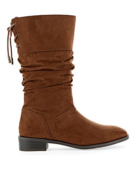 Millie Calf Slouch Flat Boot Wide Fit