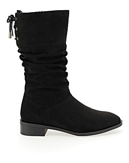 Millie Calf Slouch Flat Boot Extra Wide