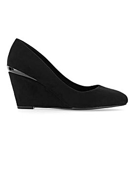 Rosie Classic Wedge Court Wide Fit