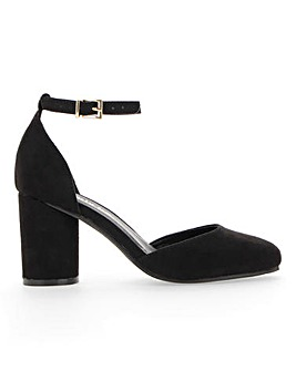 Mays Round Block Heel Wide Fit