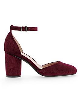Mays Round Block Heel Extra Wide Fit