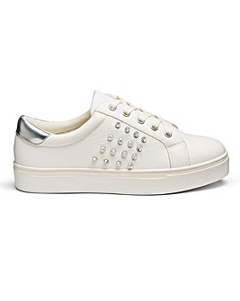 Vita Studded Trainer Extra Wide Fit