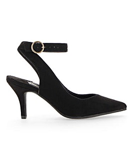 Harriet Ankle Tie Court Shoe Wide Fit