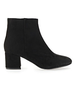 Heidi Block Heel Boot Extra Wide Fit