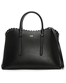 Class Cavalli Leo Lace Leather Tote Bag