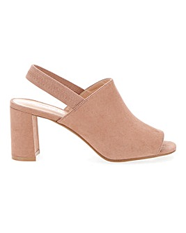 Lola Elastic Strap Mule Extra Wide Fit