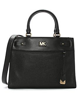 Michael Kors Structured Leather Satchel