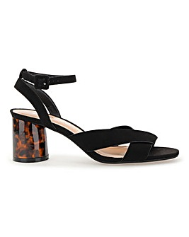 Belle Ankle Strap Low Sandal Extra Wide