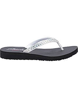 Skechers Meditation Shine Away Slip On Mule