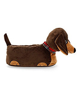 Sausage Dog Slippers Wide Fit