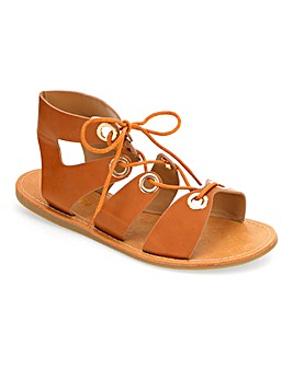 Bella Tie Up Eyelet Sandals Extra Wide